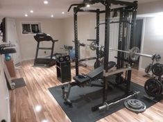 Home Gym Ideas - Are you feeling out of shape? then certainly the very best way to ensure you do workout is to have a fitness space right in your own home. 21 Best Home Gym Ideas 2020 Home Gym Basement, Home Gym Garage, Diy Home Gym, Gym Room At Home, Home Gym Decor, Basement Workout Room, Best Home Gym Setup, Dream Home Gym, Home Gym Design