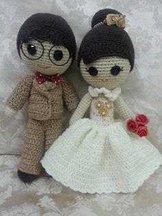 Crochet wedding dolls *yeye <3 nainai*