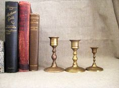 Vintage Candle Holder Collection / Set of 3 by dewdropdaisies