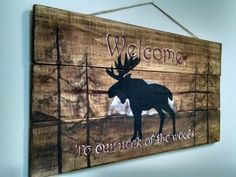 Welcome To Our Neck of the Woods by Delawi on Etsy