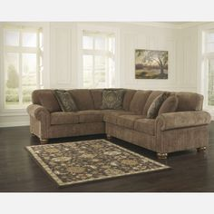 Barden - Umber LAF Sofa w/Corner Wedge