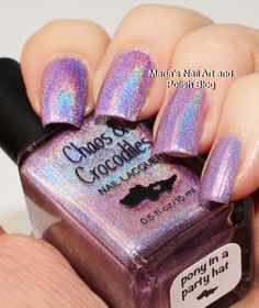 Marias Nail Art and Polish Blog: Chaos & Crocodiles Pony in a Party Hat swatches