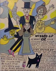 Eine Zeichnung des US- Aussenseiters, Crazy Hollis Stay Young, Outsider Art, Wizard Of Oz, Folk Art, The Outsiders, Original Paintings, Comics, Abstract, Gallery