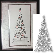 ELYSE CHRISTMAS TREE die by MEMORY BOX 98667 elegant tree metal die for Holiday  #memorybox