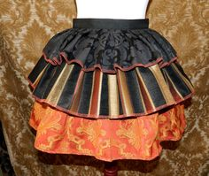 Ruffle Bustle Overskirt  3 Layer Sz. S  Black by VeneficaCorsetry, $40.00
