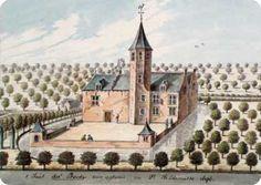 gravure achterzijde der Boede te Koudekerke anno 1696