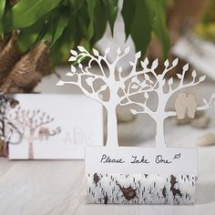 Faux Birch Log Card Holders - The Knot Shop