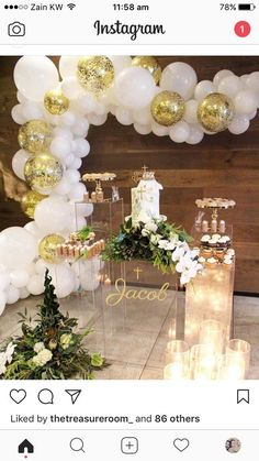 PartyWoo White and Gold Balloons 100 pcs 12 inch White Balloons Gold Confetti Balloons .