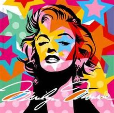 This is an example of pop art in the 1950's, idolizing Marilyn Monroe. Marilyn Monroe became an idol for a large majority of the American public.