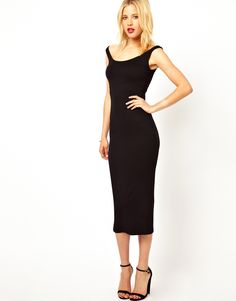 Posing in ASOS Bardot Bodycon Dress
