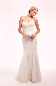 Sweetheart Mermaid Wedding Dress  with No Waist/Princess Seams in Lace. Bridal Gown Style Number:32629594