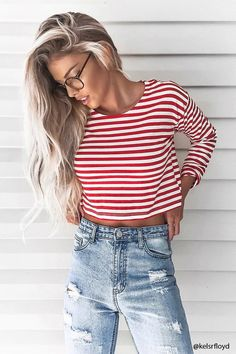 Boxy Striped Tee | Forever 21