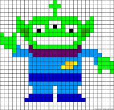 Toy Story Alien perler bead pattern