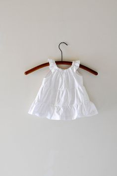 Wee Sight White Baby dress baptism photo shoot by WiseSewcialTies on Etsy.