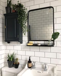 "589 Likes, 23 Comments - Kate Rogers (@overatkates) on Instagram: ""The only room in the house where I can manage to keep a plant alive! #bathroomdecor #bathroomdesign…"""
