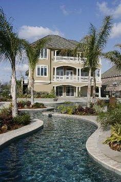 Backyard Lazy River Mah man! I want this so BAD!