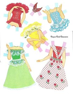 PAPER DOLL DANCERS Published by Whitman #1981, 1979 Ѽ 5 of 8