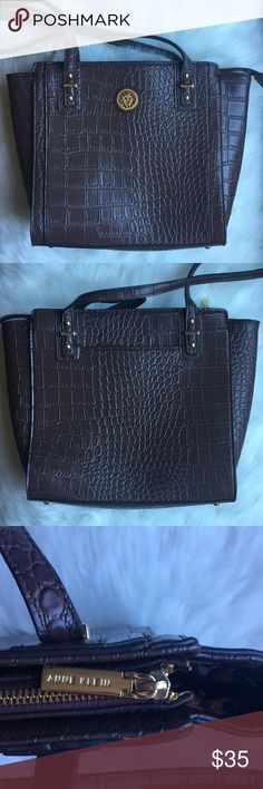 New Anne Klein Tote Classic, sleek and fashionable animal textured medium size tote. The interior lining gives this bag a fun youthful look. Anne Klein Bags Totes