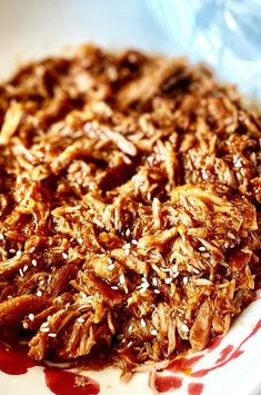"""Easy Slow Cooker Teriyaki Pulled Pork 
