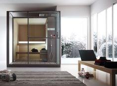 #Wellness #Détente #Home #Spa #Relaxing #Relaxation #Bathroom #Homestyle #Zen #Spa #Sauna Saunas, Home Design, Interior Design, Sauna Steam Room, Sauna Design, Finnish Sauna, Shower Cabin, Sauna Shower, Clever Design