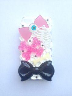 Creepy Cute Decoden Eyeball Resin Bone Lasercut Ribcage Pastel Bow Kawaii Whipped Cream iPhone 5 Cell Phone Case on Etsy, $28.57 CAD