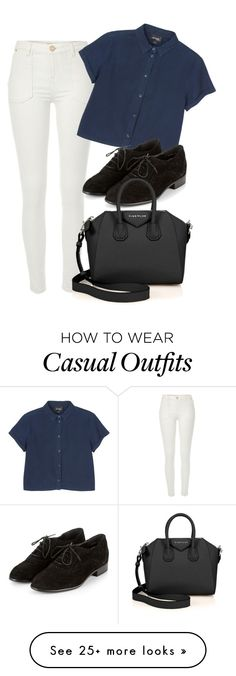 """casual"" by adele-adik on Polyvore featuring River Island, Monki and Givenchy"