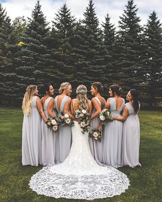 Bridesmaids wedding photo ideas -fall bridesmaid dresses and colors #weddings #bridesmaid #weddingphotos #weddingideas #dresses photos by @xandraphotography