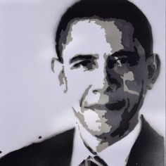 Obama portrait, graffiti stencil art. Get one with your own picture. Mail: kunst.graffiti@gmail.com for more information. Or go to our website.