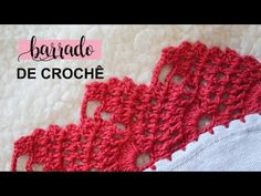 BARRADO DE CROCHÊ CARREIRA ÚNICA PARA PANO DE PRATO #143 | PASSO A PASSO - YouTube Manta Crochet, Fingerless Gloves, Arm Warmers, Diy And Crafts, Crochet Necklace, Patches, Crochet Hats, Pattern, Youtube