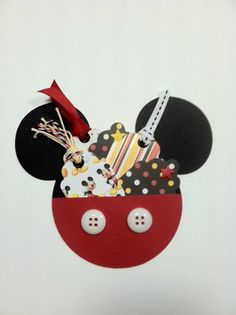 Other: Mickey Mouse Icon Pouch with Mini Tags - cute pocket~ amy Ideas Scrapbook, Disney Scrapbook Pages, Mini Scrapbook Albums, Vacation Scrapbook, Scrapbook Supplies, Mini Albums, Disney Cards, Disney Diy, Diy