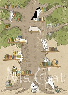 "Miss Cat 's Time Notes - a blog. ""In the days of reading The kitten gradually learned to climb the tree One year they climbed to the canopy That dense foliage deep Hidden in the adult cat know the mystery of knowledge"""