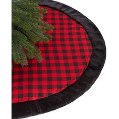Holiday Lane Red and Black Buffalo Plaid Tree Skirt ($50) ❤ liked on Polyvore featuring home, home decor, holiday decorations, no color, faux fur christmas tree skirt, plaid tree skirt, holiday lane, christmas tree skirt and tree skirt