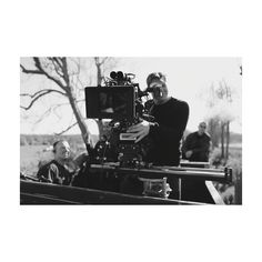 DOP John Lee at work, filming a train sequence. From Jenna Coleman's Instagram.