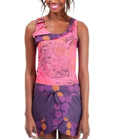 Take a look at this Purple & Pink Fontella Sleeveless Dress by Missing Johnny on #zulily today!