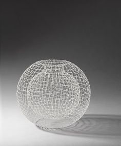 """Double-sphere silver """"cage"""" vessel by Lucian Taylor, 2009"""