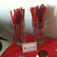 Use twizlers as lassos for a cowboy themed party.