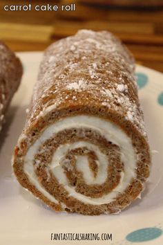 Carrot Cake Roll #recipe #dessert #cake #cakeroll #carrotcake #FantasticalFoodFight