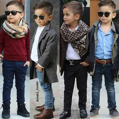 Boy with style toddler boy outfits, toddler boy fashion, toddler boy hair. Little Boy Outfits, Little Boy Fashion, Kids Fashion Boy, Toddler Boy Outfits, Cute Outfits For Kids, Toddler Fashion, Stylish Boys, Trendy Kids, Boys Winter Clothes