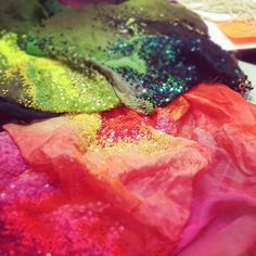 Sneak peak of some showpiece embroidery…inspired by the Holi Festival in India…. Matthew Williamson