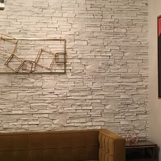 Is Paneling Walls good for Home Improvement? Faux Stone Walls, Stone Accent Walls, Accent Walls In Living Room, Faux Stone Sheets, Stick Tile Backsplash, Stone Backsplash, Stick On Tiles, Stacked Stone Panels, Rock Tile