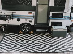 Setting up and Using our Pop-Up Camper {Pop-Up Camping} – Rain and Pine Jayco Pop Up Campers, Popup Camper, Camper Trailers, Pop Up Camper Accessories, Camping In The Rain, Pop Up Trailer, Camper Hacks, Camper Storage, Van Living
