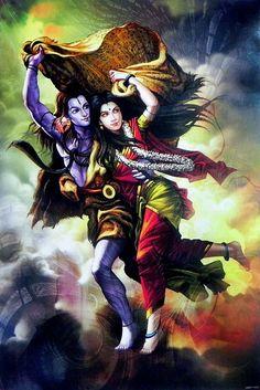Shiva Parvati (Reprint on Paper - Unframed) Photos Of Lord Shiva, Lord Shiva Hd Images, Shiva Parvati Images, Mahakal Shiva, Lord Shiva Statue, Lord Vishnu, Arte Shiva, Angry Lord Shiva, Rudra Shiva