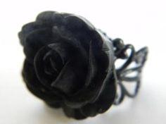 Midnight Spells Rose Ring