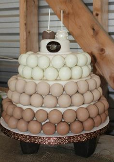 Wedding cake pop cake