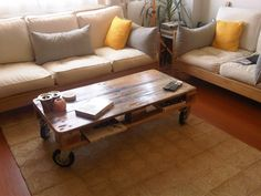 Pallet Coffee Table From Reclaimed Wood