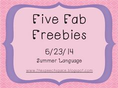 Five fab summer language freebies!
