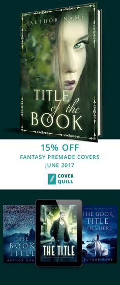 Get fantasy premade covers 15% off this spring from coverquill.com. Use code spring2017 at checkout.