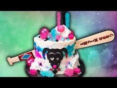 How to Make a Harley Quinn Cake (Suicide Squad Cake) from Cookies Cupcakes and Cardio - YouTube