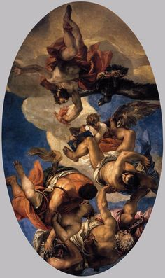 Jupiter Hurling Thunderbolts at the Vices     Paolo Veronese · 1554-1556. www.wikiart.org