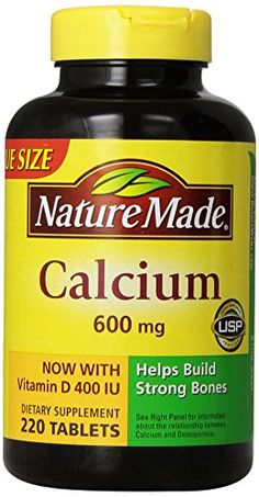 Nature Made Calcium 600 Mg, with Vitamin D3, Value Size, 220-Count ** Check this awesome product by going to the link at the image.